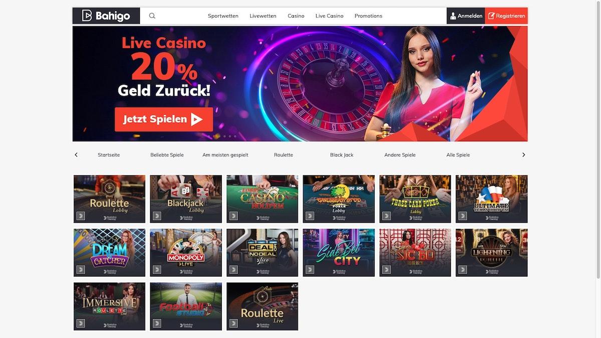 Bahigo Casino Test ➤ 20 CHF € Casino Bonus   Aug. 20